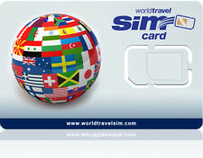 World SIM card - Includes $20.00 Credit - Never Expires! Triple-Cut SIM card