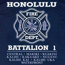Honolulu Fire Dept. Battalion 1 T-shirt XL Long Sleeves