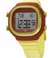 NEW ADIDAS SEOUL YELLOW POLYURETHANE BAND+DIGITAL DIAL MENS WATCH-ADH9502