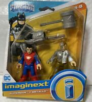 Fisher-Price Imaginext DC Super Friends Superman & Metallo 2-Pack Figures NEW