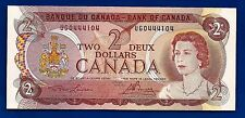 1974 CANADA two 2 DOLLAR BILL NOTE prefix UGO CRISP UNC C