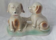 Vintage Dog Figurines Pair Of Dogs Retro Collectable Fun Find