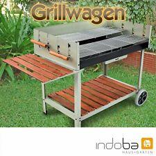Grillwagen BBQ Grill Holzkohlegrill Gartengrill Rollwagen fahrbar Calor indoba®