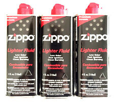 Zippo Premium Lighter bundle Fluid Cans 3 Pack 4 oz each - Bundle Deals