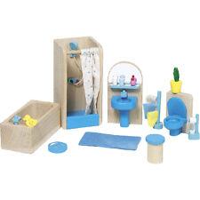 Goki Puppenhausmöbel für das Badezimmer Möbel Puppenhaus Badezimmermöbel NEU