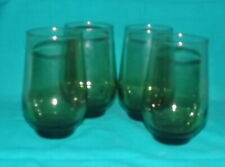 Green stemless wine glasses 4 3/4 inch set of 4