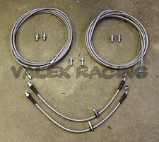 Complete Stainless Rear Brake Line Replacement Kit 92-95 Honda Civic w/rear disc