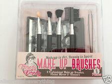Set of Make Up Brushes with Mirror & Tweezers