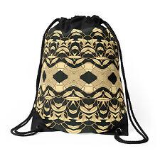 DRAWSTRING BACKPACK SHOULDER BAG w/Exclusive Solar Etched Design ~ 'Lilies #1'