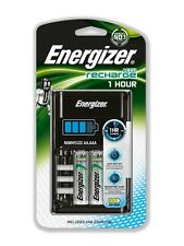 Energizer 1 One Hour Battery Charger + 4 2300mAh AA Batteries charges AA & AAA