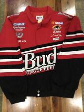 Chase Authentics Dale Earnhardt Jr Budweiser NASCAR Racing Jacket Men Size XL