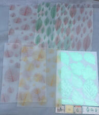 5x A4 Vellum - 5x Metallic stickers -Leaves Leaf Craft transparent paper tracing