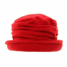 Ladies Womens Girls Fleece Cloche Downton Abbey Style Winter Hat 2 Colours  Red 6c9e474f7f98