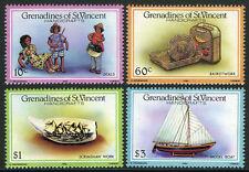 St Vincent Grenadines 519-522,MI 479-482,MNH.Handicrafts:Dolls,Basket,Boat,1986