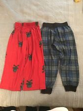 Boys Size4/5 PJ Bottoms Lot Sculls And Plaid