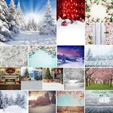 5x7ft Winter Snow Flower Xmas Photography Backdrop Background Studio Photo Prop