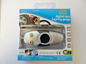 Ring RTG4 Mini Digital Tyre Pressure Gauge Keyring Built in LED light
