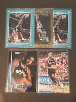 5 Ct Lot 1997-98 Tim Duncan RC Very Rare Rookie Cards SP Authentic Fleer Crystal