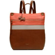 Radley London Kensal Stripe Medium Zip-Top Backpack Brown NEW