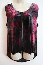 ROCK & REPUBLIC Womens Velvet Sleeveless Galaxy Print High Low Top Shirt LARGE