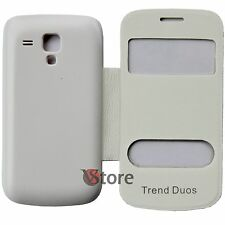 Housing Cover Flip for Samsung GALAXY S DUOS S7562 White