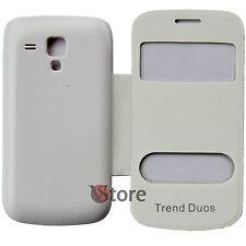 Custodia Cover Flip Per Samsung GALAXY S DUOS S7562 Bianco + Pellicola display