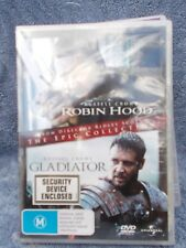 ROBIN HOOD/GLADIATOR(2 DISC BOXSET)RIDLEY SCOTT RUSSELL CROW,DVD M R4 SEALED