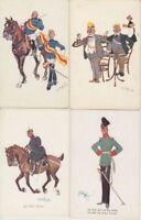 SCHONFLUG MILITARY HUMOR 13 Vintage postcards pre-1940