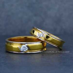 22K Gold Engagement, Wedding, Anniversary Gold Jewelry Man Women Couple Ring 27