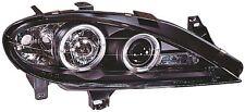 Renault Megane 2003-2006 Black Halo Angel Eye Projector Front Headlights Lights