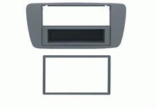 Mascherina con foro 2DIN-ISO colore grigio azzurro Seat Ibiza 08>12