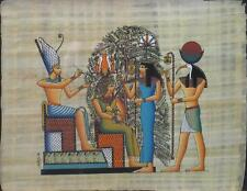 NEW HAND PAINTED EGYPTIAN ART ON PAPYRUS: Painting the Tree A85