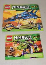 LEGO Lot  2 Ninjacq Booklets 9455 9442 ONLY 16269 Ninjango