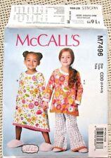 7496 McCALLS SEWING PATTERN~UNCUT~GIRLS SIZES 2-5~NIGHTGOWN&PAJAMAS:TOP+PANTS
