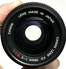 【NEAR MINT】Canon FD 35mm F/2 S.S.C. SSC Wide Angle Lens