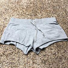 Victorias Secret Soft Gray Fleece Boy Shorts Angel Wings Logo size Small VS
