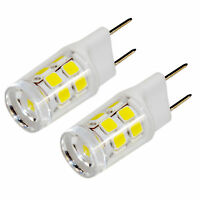 2-Pack HQRP 110V G8 Bi-Pin Base SMD 2835 17 LEDs Cool White Light Bulb 150-200Lm