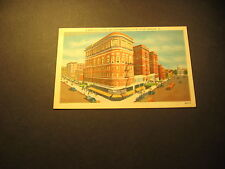 Monticello Hotel, Norfolk, Va., used linen postcard, about 1950