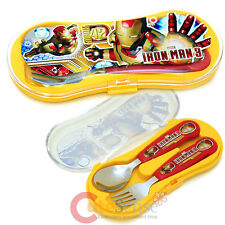 Marvel Iron Man Silverware Set Spoon Fork Set with Case Stainless Fork