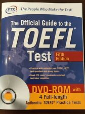 The Official Guide to the Toefl Test with Dvd-Rom, Fifth Edition - very good
