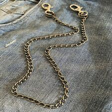 Catena jeans pantalone bikers da uomo catenella alluminio nero portafoglio 45 cm