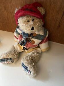 "Boyds Bear JPHutton the third LL Bean bear with scarf coat hat 17"""