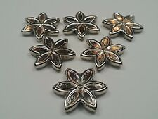 CCB Acrylic Beads, Flower, Qty 6 Nickel Color, Size: about 26x5mm, Hole 2mm