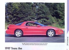1997 Pontiac Firebird Trans Am Info/Specs/photo prices 11x8