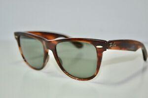 AS-IS PARTS/REPAIR  Ray Ban B&L USA Wayfarer II Tortoise G15 Vintage Sunglasses