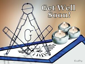 NEW!  APRON/COMPASSES  - 8 MASONIC GREETING/NOTE CARDS  - 2 Messages