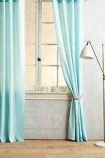 "New Anthropologie Linen Grommet Curtain NIP Turquoise Aqua Blue 50"" W x 96"" L"