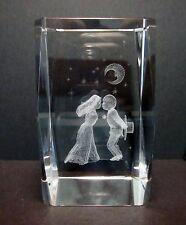 Kissing Couple 3D Crystal Cube  80mm - Gift Boxed (Post or Local Pickup)