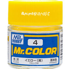 GSI Creos Gunze Mr Hobby Color Lacquer C4 Yellow Model Kit Paint 10ml