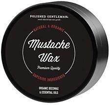 Polished Gentleman Mustache and Beard Wax - For Handlebar or Regular Mustache